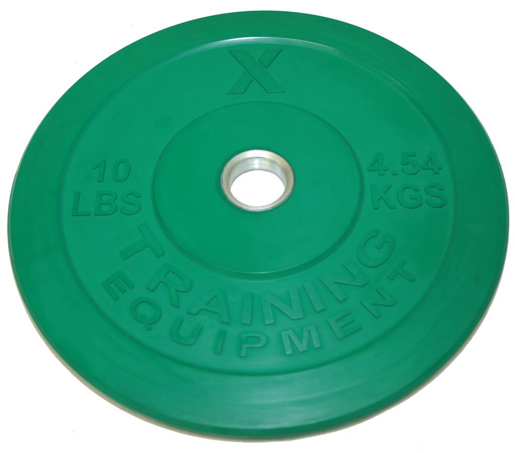 X Training Equipment® 10LB Premium Color Bumper Plate Pair