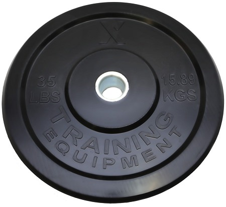 X Training Equipment® 35LB Premium Black Bumper Plate Pair