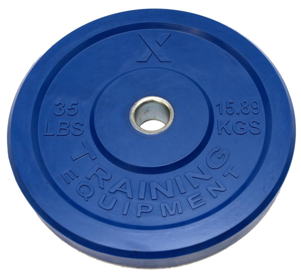 X Training Equipment® 35LB Premium Color Bumper Plate Pair