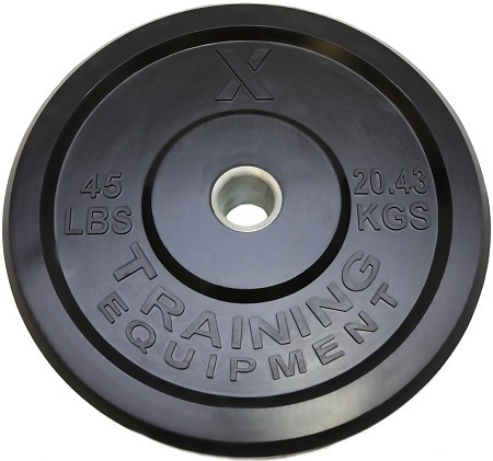 X Training Equipment® 45LB Premium Black Bumper Plate Pair