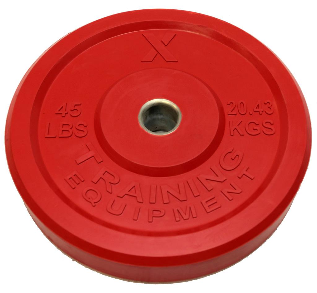 X Training Equipment® 45LB Premium Color Bumper Plate Pair