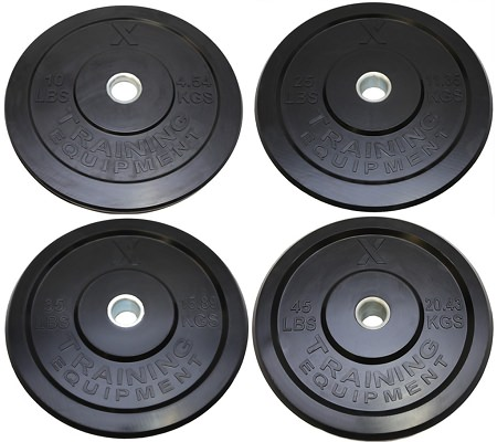 X Training Equipment® 230lb Premium Black Bumper Set