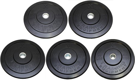 X Training Equipment® 160LB Premium Black Bumper Set