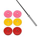 X Training Equipment® 160LB Premium Color Bumper Set & Olympic Barbell Special