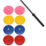 X Training Equipment® 230LB Premium Color Bumper Set & Elite Competition Bar Special