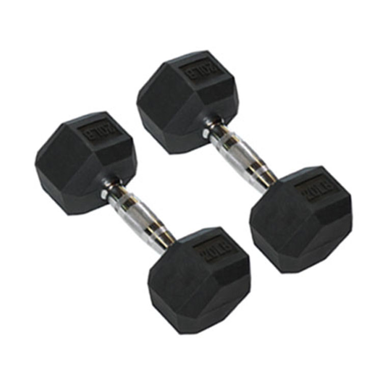 Black Rubber Encased Dumbbells