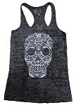 Sugar Skull Women's Black Tank Top - Free Shipping
