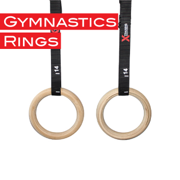 Gymnastic Fitness Rings Premium Wood Rings With Durable Straps