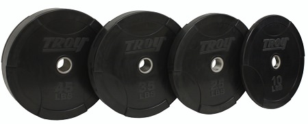 Troy Premium Commercial Grade Olympic Inter-locking Solid Rubber Bumper Plate 250LB Package Set