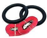 X Training Steel Gymnastic Rings Set