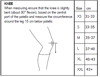 388bd2b3e9 If a tight competition fit is desired, order one size smaller than the  Rehband recommended size chart.