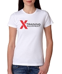 X Training Equipment Women's Logo White T-Shirt - Free Shipping