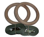 Premium Wooden Gymnastic Rings & Straps (FREE SHIPPING)