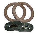 Premium Wooden Gymnastic Rings & Straps (FREE SHIPPING) - Bonus Buy 3 Get 1 Free
