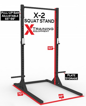X-2 Elite Series Squat Stand with Pull-up Bar - Pre-Order Now - ETA 9/9